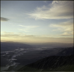 Wake Me Up Before I Sleep (dannyone) Tags: california sunset sky usa 6x6 film america mediumformat square superia 400 fujifilm deathvalley mamiya6 badwater ontherun dantesview roadtripamerica dannyone taldestodes capturethemoment usa2013