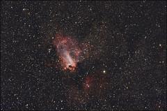 Omega Nebula - M17 - Edit (Teva CHENE) Tags: canon celestron xsi m17 c14 baader 450d pixinsight messier17 omeganebula starizona Astrometrydotnet:status=failed hyperstar backyardeos Astrometrydotnet:id=alpha20130505570321