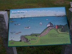 Fort McClary- Kittery Point ME (1) (kevystew) Tags: statepark signs sign fort map maps maine kitterypoint yorkcounty fortmcclary nationalregister nationalregisterofhistoricplaces portsmouthharbor