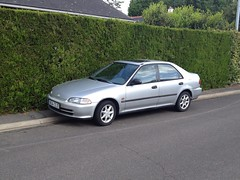 Honda Civic de 1994 9634 TS 37 - 23 mai 2013 (Allee de l'Hermitiere - Joue-les-Tours) 1 (Padicha) Tags: auto new old bridge france water grass car station electric truck river french coach ancient automobile eau indre may police voiture ruine cher rest former 37 nouveau et loire quai franais nouvelle vieux herbe vieille ancienne ancien fleuve nationale vehicule lectrique reste gendarmerie gazon indreetloire franaise pave nouveaut vhicule utilitaire restes vgtalise letramdetours padicha