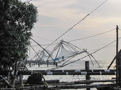 STW3: Kochi, India. The Chinese fishing nets (Tim Booth) Tags: india asia kochi jubileesailingtrust sailtheworld stw3