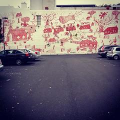 Wyanga Aboriginal Aged Care car park... (here_downunder) Tags: uploaded:by=flickstagram instagram:photo=46603863362316212713033554 mural aboriginal streetartsydney sydneystreetart sydneywalls urbanwalls urbanart streetart art wallart streetartaustralia cityofsydney redfern sydney australia