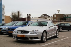 Mercedes SL55 AMG (Dannny32) Tags: auto holland netherlands car grey mercedes arnhem engine nederland convertible 63 mercedesbenz motor petrol 55 cabrio v8 grijs cabriolet the sportcar
