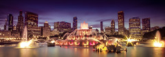 Buckingham Fountain, Chicago (Deirdre Hayes) Tags: chicago fountain night bravo long exposure cityscape explore