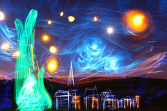 Illuminating Vincent van Gogh's 'The Starry Night' - Michael Bosanko (michael_bosanko) Tags: lightpainting michael lightgraffiti lightart michaelbosanko bosanko wwwmichaelbosankocom