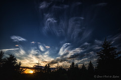 Les Nuages Dansent pour Nous (Sous l'Oeil de Sylvie) Tags: sunset sky june clouds juin raw pentax ciel arbres qubec nuages coucherdesoleil beauce lightroom sigma1020mm grandangle 2013 k30 colorefex beauceville sousloeildesylvie
