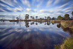 The Blue Streak (Firefly Photos Australia) Tags: longexposure lake clouds dam hills cecil streaky leebigstopper