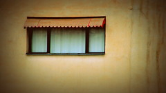 .... () Tags: light red white brick home window glass canon iran hometown curtain shade shiraz walls  windowpane lonliness       canon400d