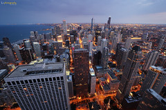 Chicago (Jingtian Lv) Tags: usa chicago canon cityscape nightfall 1635 1dx