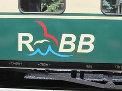RBB Logo (v8dub) Tags: railroad station train germany logo wagon deutschland wasser gare eisenbahn railway zug bahnhof roland rgen bahn allemagne wagen schmalspurbahn rasender rbb