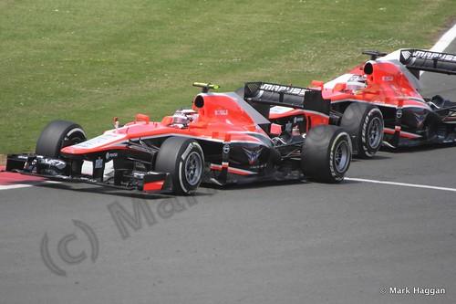 Max Chilton and Jules Bianchi in the 2013 British Grand Prix