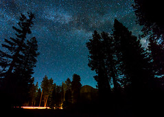 Milky Way Over Lassen Peak (melfoody) Tags: longexposure trees silhouette night canon stars iso3200 wideangle explore clearsky milkyway lassenvolcanicnationalpark lassenpeak explored 5dmkiii