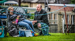 The Kiltie and the Pringle Eater (FotoFling Scotland) Tags: male beard kilt perthshire event pringles tartan kilted upkilt crieffhighlandgathering crieffhighlandgames