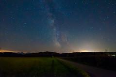 The Milkyway And One of The Perseids (svenpetersen1965) Tags: sky alps night stars nightshot clear le meteor milkyway wendelstein perseids