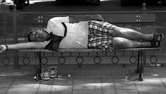 The art of relaxation (Baz 120) Tags: street city portrait people blackandwhite bw italy rome monochrome faces candid streetphotography streetphoto unposed g3 45mm decisivemoment candidportrait streetcandid mft streetphotograph primelens candidstreet grittystreetphotography