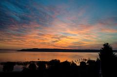 Commencement Moment, Tacoma [Explore] (tacoma290) Tags: show sky sunrise bay nikon pacificnorthwest pugetsound pilings moment fleeting drama pnw commencementbay commencementmomenttacoma commercialforcoffee