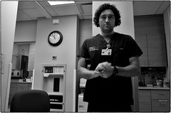 Saint Elizabeth Hospital, September 08, 2013 (Maggie Osterberg) Tags: bw night hospital blackwhite nebraska lincoln nurse gr ricoh emergencydepartment maggieo badnight grlens silverefexpro2