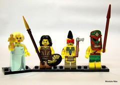 An Oscar from Marilyn Monroe (mootzie) Tags: marilyn oscar fight lego mask spears monroe winner axe shield figures