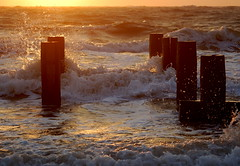 Morning light and a lively sea (Kirkleyjohn) Tags: sun seascape water sunrise suffolk seaside waves seashore lowestoft lowestoftbeach lowestoftsouthbeach