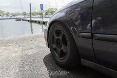DSC_0118 (DylanSperryPhotography) Tags: blue red art car clouds honda creativity nikon focus connecticut low navy creative royal clean civic ek rims acura integra coils stance
