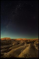 Valle de la Luna Amarillo con luna llena