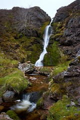Allt Breac waterfall (Donald Beaton) Tags: uk water landscape scotland waterfall highlands stream long exposure sheep none sony burn fe moor a7 allt dava breac daless
