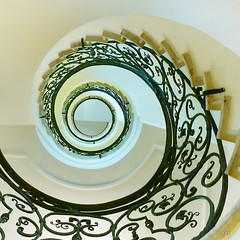 spiralling up (freakingrabbit) Tags: up stairs spiral stair interior staircase handrail