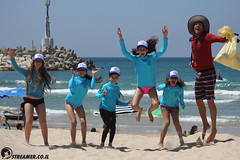 IMG_8822 (Streamer -  ) Tags: ocean sea people green beach nature students ecology up israel movement garbage sunday north group young cleanup clean teen shore bags  nonprofit streamer  initiative enviornment    ashkelon          ashqelon   volonteers      hofit