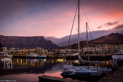 Cape Town Harbour Sunset_8665 (KenWilliamsPhoto) Tags: mountain table harbor town williams harbour hill may ken cape signal 2015