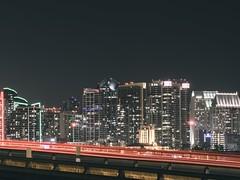 Pause (DavidChege) Tags: street city longexposure sky lines night buildings lights nightshot sandiego cityscapes slowshutter