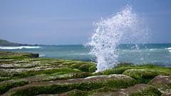 浪花綠石 (胚卓's photography) Tags: taiwan nd 海岸 風景 cpl 東北角 haida 老梅 laomei 浪花 海大 減光鏡 老梅綠石槽
