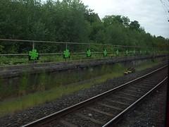 Kleebltter (mkorsakov) Tags: city streetart green graffiti stencil bahnhof line grn hbf dortmund innenstadt kleeblatt