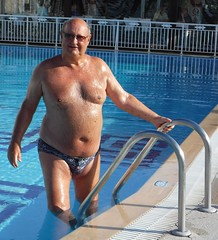 At the Splish Splash Pool (pj's memories) Tags: corfu kaloudis splishsplash tanthru trunks pool kiniki