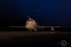 """During The Blue Hour"" (SJAviation.net) Tags: raf aircraft nikon operationgranby aviation jet bae tle nightshoot xv250 nimrodmr2 yorkshireairmuseum bluehour"