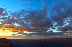 DSC_0876-878 yavapai point sunset hdr 850 (guine) Tags: grandcanyon grandcanyonnationalpark canyon rocks clouds sunset hdr qtpfsgui luminance