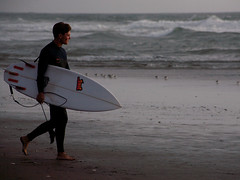 sunset surfer (heavysoulclick) Tags: nature street photography magic scene moment color red sunset surfer wave ocean