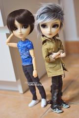 Hey, brother... (Yuffie Kisaragi) Tags: doll dolls taeyang taeyangs custom customs akai arasi mj abel horizon caim obitsu rewigged rechipped