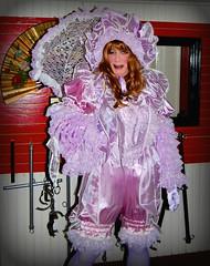 Dressed for the NRA Convention (jensatin4242) Tags: sissy crossdresser transvestite jensatin frilly satin