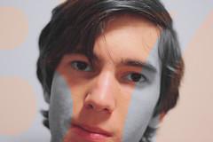 37 (zakchalmers) Tags: color contrast selfportrait portrait canon t2i 37 warm cold eyes face mask
