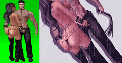 His (Twisted_Graphics) Tags: secondlife secondlifeart sl art avatar avi lifestyle submissive whip loyal tattoos couple love lust protect graphics