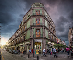 Downtown, Gudalajara. (http://sotochristian2.500px.com/) Tags: mexico wclx100 architecture art callejon centrohistorico clarity clouds cloudy downtown drama fujifilmx100t guadalajara hdr landscape ninjanodal outdoor panorama photography photoshop street sun sunrise sunset