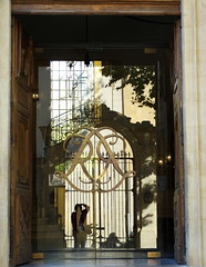 Light and shadow and reflections.... entrance to the Caumont Centre D'Art... (Sue - happy sparrow) Tags: light shadow reflections glass door entrance caumontcentredart aixenprovence france provence arts heritage culture