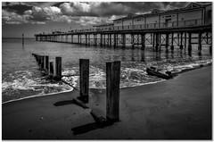 Teignmouth pier (Hugh Stanton) Tags: appickoftheweek pier sea shoreline groins