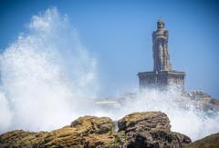Thiruvalluvar Statue (VinayRaghavendra) Tags: vivekanandarockmemorial swamivivekananda kanyakumari laccadive lakshadweep thiruvalluvar india photography vrclikz