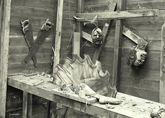 a madman's workshop (judecat ( back in flip flops)) Tags: scary spooky freaky laboratory workshop saw limbs halloween