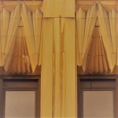dusty deco duo (msdonnalee) Tags: deco windowdetail decodetail architecturaldetail window janela ventana fenster fenêtre finestra yellow jaune amarelo amarillo gelb symmetry