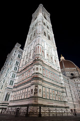 Giotto's Campanile Florence (Mikey Down Under) Tags: florence italy tuscany night early morning dawn lights giottos campanile wideangle lens