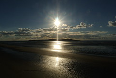 SUN OVER BREAN DOWN (Fox Hunter 314) Tags: watersearockscoastal sunsets seasky sea outdoor sky cloud landscape seaside shore