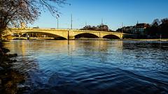 Reichenbachbrcke, Munich (Stefan Wegner) Tags: stefanwegner sel1670za variotessarte41670 isar river fiume blue alpha6000 sony