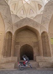 Motorbike in front of the entrance of a water reservoir, Yazd province, Meybod, Iran (Eric Lafforgue) Tags: 0people ancient architectural architecture brick ceiling colorimage cultural culture decoration design heritage historic historical indoors iran iranian islamic maibud meybod middleeast nopeople nobody orient ornamentation persia persian placeofinterest sight tourism touristic traditional travel vertical yazdprovince